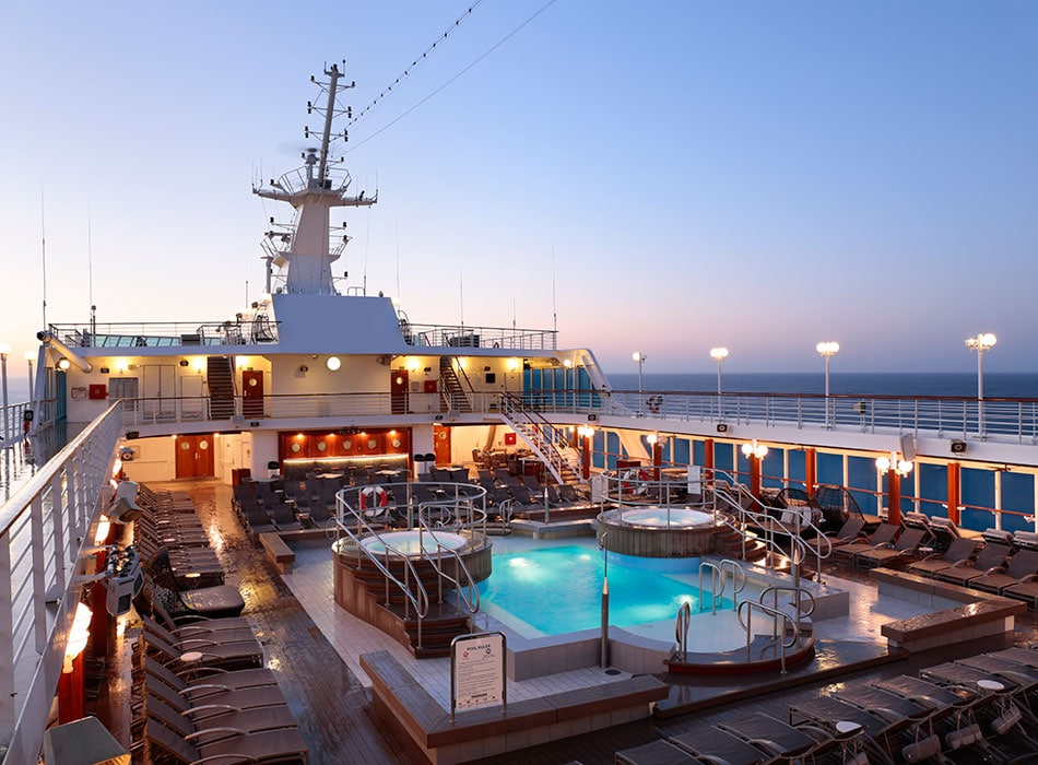 Desire Cruises | Pool Deck Sunrise