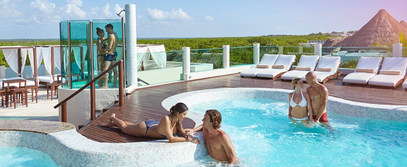 Desire Riviera Maya Resort Jacuzzi Lounge