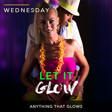 Desire Riviera Maya Resort | Let it Glow Theme Night